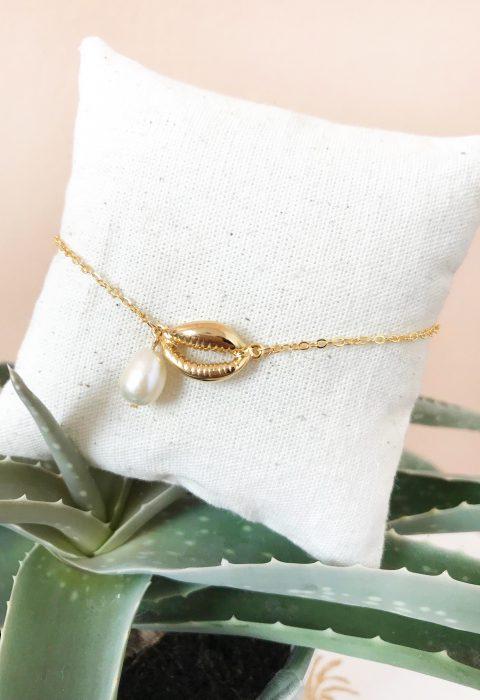 bracelet,iliana,lespiplettes,perleculture,coquillage,doré,or,bijoux,perle