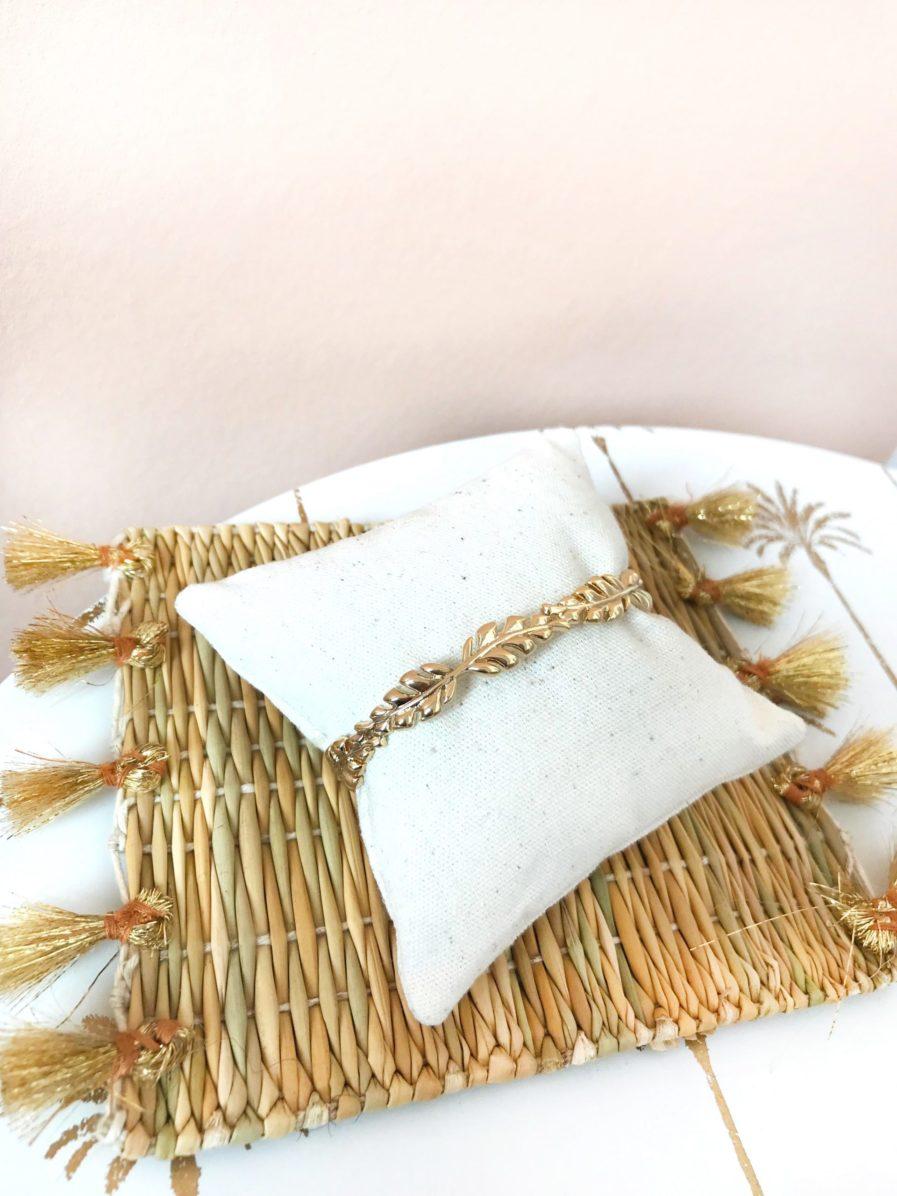 jonc,lélia,feuilles,lespiplettes,bracelet,or,doré,bijoux