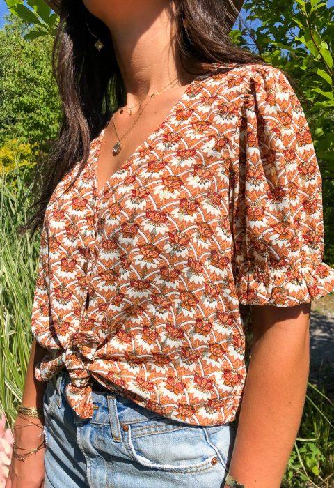 blouse motifs camel boutique les piplettes