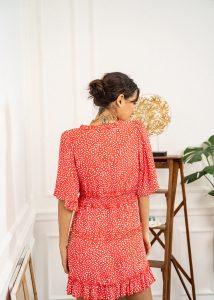 robe rouge à pois boutique les piplettes