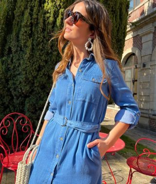 BABY BLUE 💙 Décontractée toute la journée, ou bien accessoirisée pour une soirée. La Robe chemise est facile à apprivoiser !  ww.lespiplettesstore.fr  #lespiplettes #shopping #mode #lille #vieuxlille #arras #paris #lemarais #valenciennes #amiens #letouquet #strasbourg #toulouse #eshop #nouvellecollection